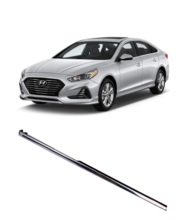 Chrome Fender Molding Trim, Right Passenger Side for 2018 - 2019 Hyundai Sonata (87772-C1500)