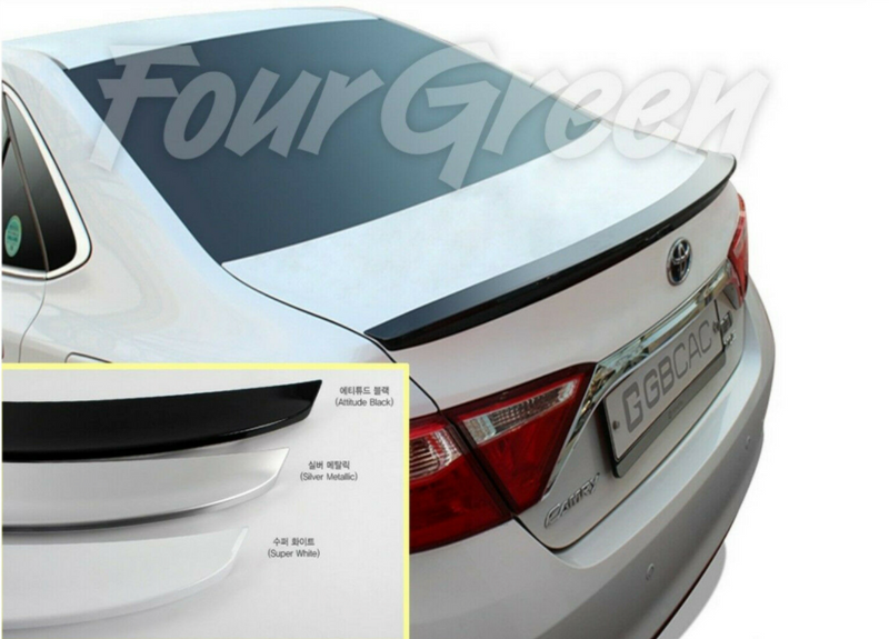 Sleek Silver Rear Trunk Spoiler for Toyota Camry 2015 - 2018+