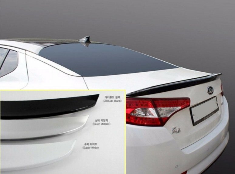 Sleek Silver Rear Trunk Spoiler for Kia Optima 2011 - 2013