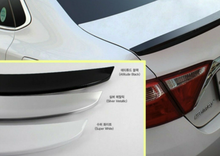 Creamy White Rear Trunk Spoiler for Toyota Camry 2015 - 2019+