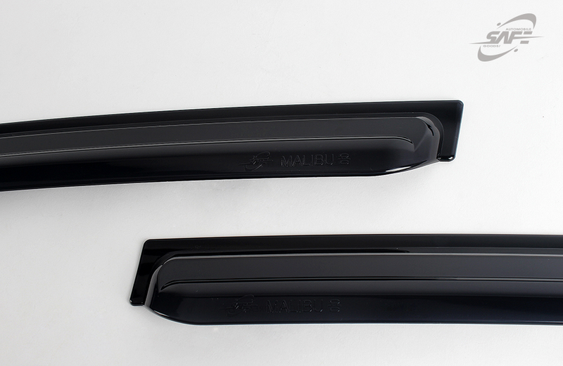 4-Piece Smoke (Black) Window Vent Visors Rain Guards for Chevy Malibu 2013 - 2015