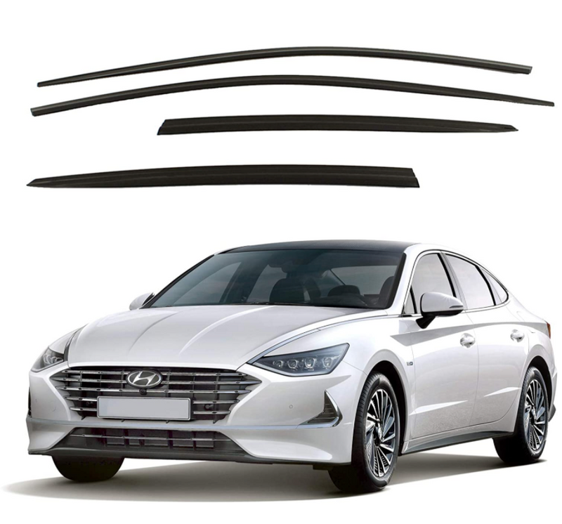 4-Piece Smoke (Black) Window Vent Visors Rain Guards for Hyundai Sonata 2020 - 2021+ Free Shipping - Motor City Auto