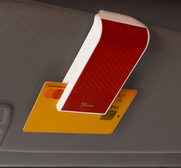 Sun Visor Air Freshener with Credit Card Holder