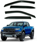4-Piece Black Window Vent Visors Rain Guards for Ford F-150 2015 - 2020