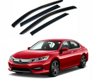 4-Piece Black Window Vent Visors Rain Guards for Honda Accord 2014 - 2017