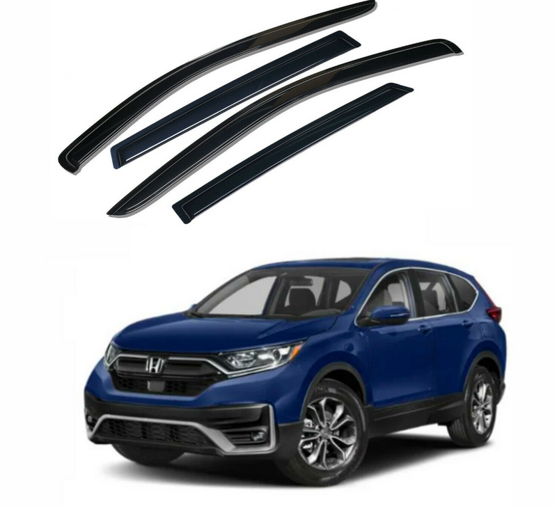 4-Piece Black Window Vent Visors Rain Guards for Honda CR-V 2017 - 2021+