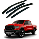 4-Piece Black Window Vent Visors Rain Guards for Dodge Ram 2009 - 2021+