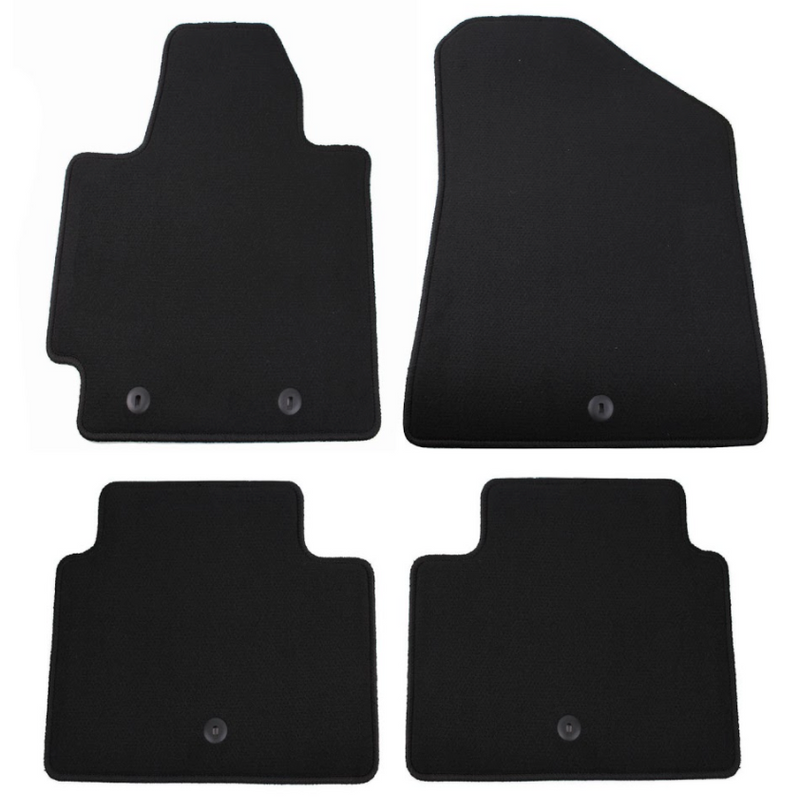 Full Black Carpet Floormat Set for Kia Soul 2009 - 2013