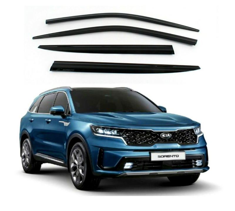 4-Piece Smoke (Black) Window Vent Visors Rain Guards for Kia Sorento 2021+ Free Shipping - Motor City Auto