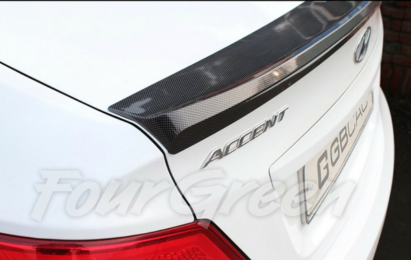 Carbon Rear Trunk Spoiler for Hyundai Accent 2012 - 2016
