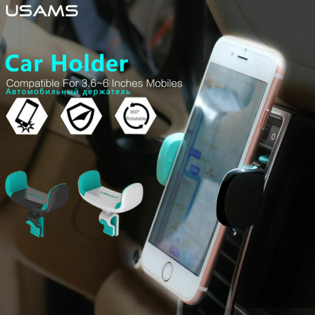 Universal Air Vent Mount Cell Phone Holder by USAMS [BLACK]