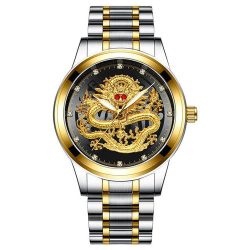 Montre Dragon En Acier A Quartz D