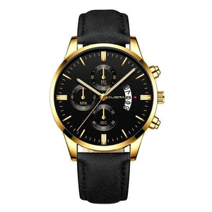 Montre Homme Cuir Chic Dateur G / China
