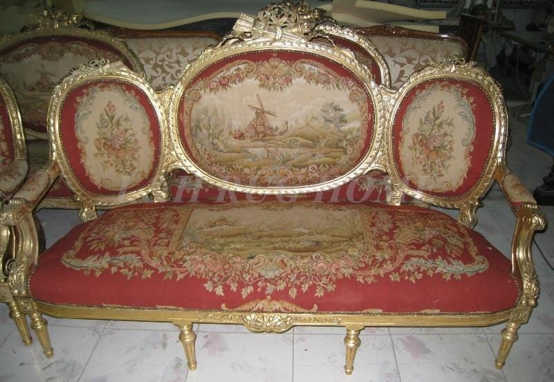Handmade Antique Sofa and chairs set
