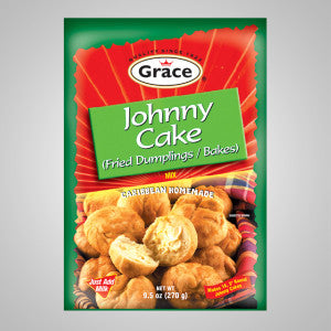 Grace Johnny Cake Mix gives fried dumplings in minutes. Just add water and capture the realness quick and easy! 9.5 oz