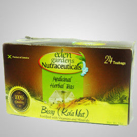 Eden Gardens Nutraceuticals Bissy (Kola Nut) Tea- This medicinal herbal tea relieves migraines, menstrual cramps, allergy symptoms, food poisoning and regulates blood sugar levels.