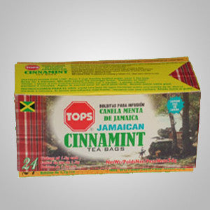 Tops Cinnamint Tea- a unique blend of cinnamon and Jamaican peppermint.  24 bags