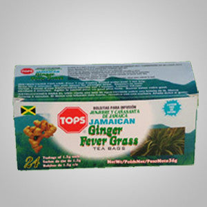 Tops Ginger Fever Grass Tea blends two natural products that compliment each other for a unique refreshing taste.  24 bags