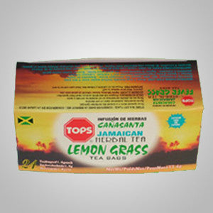 Tops Lemon Grass Tea- a light lemony taste with a hint of ginger.  24 bags