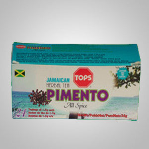 "Tops Pimento Tea combines ""all spice""- cinnamon, pepper, clove, and nutmeg makes this unique Jamaican tea.  24 bags"
