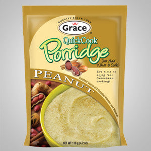 Grace Quick Cook Porridge Peanut captures the authentic Jamaican porridge flavors in just minutes. 4.2 oz