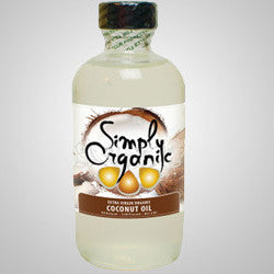 Simply Organic Coconut Oil can be used as a skin moisturizer and hair conditioner. 4 oz.