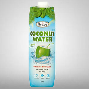 100% Pure Coconut Water with NO added sugar and NO pulp.