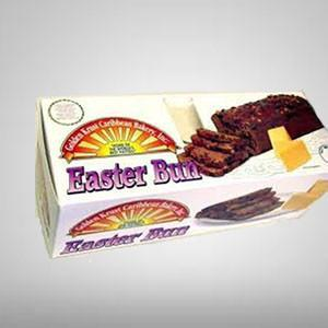 Golden Krust Easter bun is a traditional Jamaican baked item made with spices, fruits and other delicious ingredients that gives it that rich dark color and is typically eaten with cheese.
