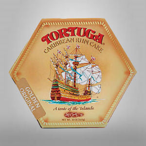 The cakes are baked with aged Tortuga gold rum then vacuum sealed to preserve the delicious freshness.