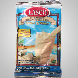 Lasco Vanilla Drink- a delicious soy based drink rich in protein, calcium and iron. 4.2oz