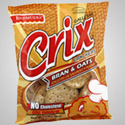 Crix Bran & Oats Crackers is a combination of dietary fibers and essential fatty acids with a great taste.