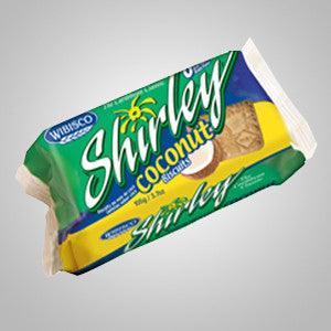 Shirley Biscuit Coconut adds a twist of coconut flavor to the most favorite biscuits in the Caribbean. 3.7 oz - 29.6 oz