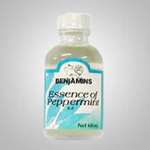 Benjamins Essence of Peppermint provides relief for gastric and intestinal discomfort. Also used to reduce physical and mental fatigue.