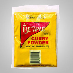 Betapac Curry Powder blends red chili's, coriander, tumeric, cumin, mustard seed, fennel, ginger and garlic. Best used to flavor meats, seafood and vegetables.
