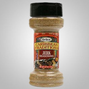 Grace Caribbean Traditions Jerk Seasoning is a special blend of spices that adds Jamaican jerk flavors to any dish. 3.49 oz.