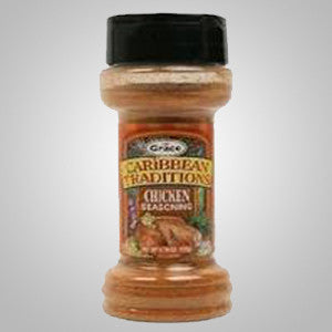 Grace Caribbean Traditions Chicken Seasoning is a special blend of spices that brings out the flavor in poultry. 3.49 oz.