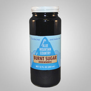 Blue Mountain Burnt Sugar Browning adds rich color to cakes, meats, gravies and soups.
