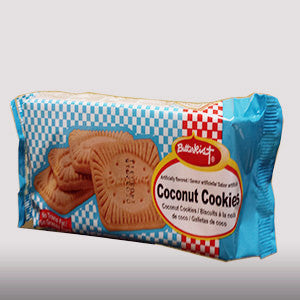 Butterkist coconut cookies are classic Jamaican biscuits with coconut flavor. It may be enjoyed with milk as a delicious snack.