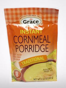 Grace Instant Cornmeal Porridge captures all the flavor and goodness of authentic Caribbean porridge in a convenient sachet. Just add boiling water.