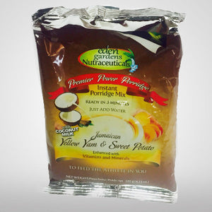 Eden Gardens Nutraceuticals Premier Power Porridge is a wholesome instant porridge made from Jamaican yellow yam and sweet potato which are complex carbs and rich in nutrients.