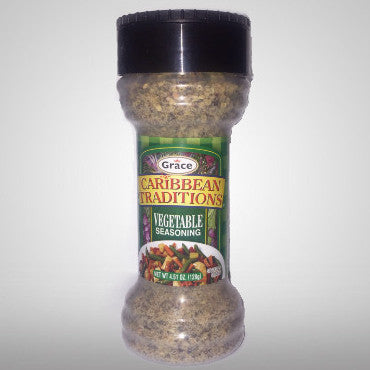 Grace Caribbean Traditions Vegetable Seasoning is a classic blend of herbs and spices that will capture the passion, and authenticity of traditional Caribbean cuisine. Experience the excitement of the Caribbean every time you cook. 4.51 oz