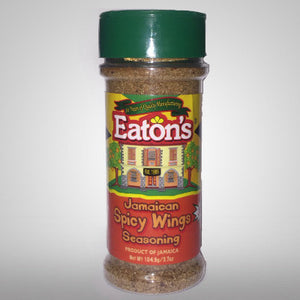 Eaton's Spicy Wings Seasoning is a perfect blend of authentic Jamaican seasonings and its low salt content in addition to no MSG will make your dish healthier while adding great flavors. 3.7 oz