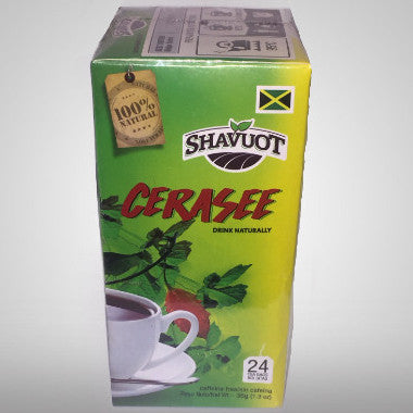 Shavuot Cerasee Tea is 100% natural and caffeine free. Cerasee or Bitter melon has been used in traditional folk herbal remedies throughout certain regions of the world. Although parts of the plant can be incorporated in cuisines, it has been mainly used specifically in the Caribbean as a tea to treat particular ailments. (24 bags) 1.3 oz