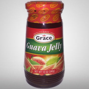 Grace Guava Jelly starts with fresh guavas, grown wild in several rural areas in Jamaica. Picked fresh from the trees , only the finest guavas are processed with cane sugar and pectin to capture the luscious taste of fresh guava. (12 oz.)