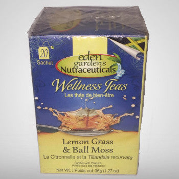 Lemon Grass and Ball Moss Tea is a powerful anti-inflammatory brew with anti-cancer properties that may be useful for chronic inflammation, pain relief and anxiety. (20 bags) 1.27 oz