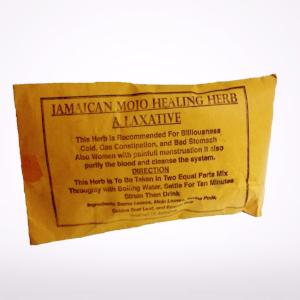 Jamaican Mojo Healing Herb is recommended for biliousness, cold, gas, constipation and upset stomach. Helps women who suffer with painful menstruation. 4 oz