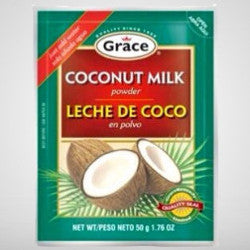 Grace Coconut Milk powder is a must have for many Caribbean dishes and adds authentic coconut flavor. Just add water. 1.76 oz
