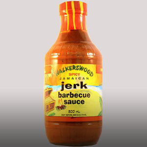 Walkerswood Spicy Jamaican Jerk Barbecue sauce is a combination of Walkerswood jerk seasoning paste and ripe bananas. The bananas add a sweet taste which alleviates that fiery spice of the Jerk