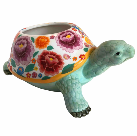 Flower Floral Turtle Planter - SLI