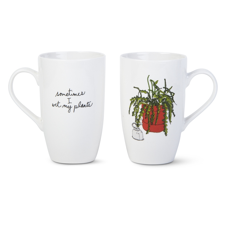 Sometimes I Wet My Plants Tall Mug - TAG